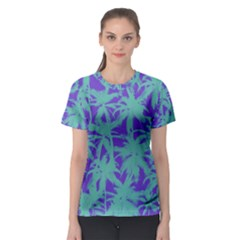 Electric Palm Tree Women s Sport Mesh Tee