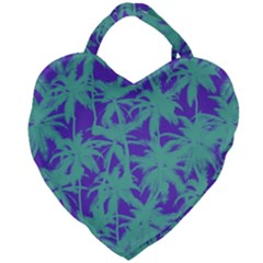 Electric Palm Tree Giant Heart Shaped Tote by jumpercat