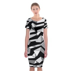 Polynoise Lowpoly Classic Short Sleeve Midi Dress