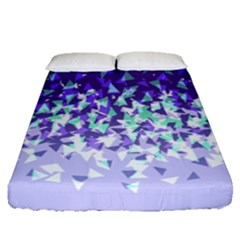Purple Disintegrate Fitted Sheet (queen Size)