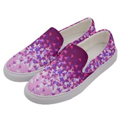 Pink Disintegrate Men s Canvas Slip Ons by jumpercat