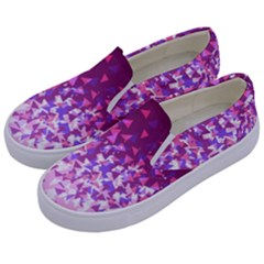 Pink Disintegrate Kids  Canvas Slip Ons by jumpercat