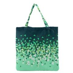 Green Disintegrate Grocery Tote Bag by jumpercat