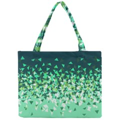 Green Disintegrate Mini Tote Bag