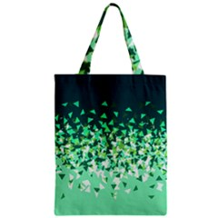 Green Disintegrate Zipper Classic Tote Bag by jumpercat