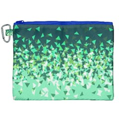 Green Disintegrate Canvas Cosmetic Bag (xxl) by jumpercat