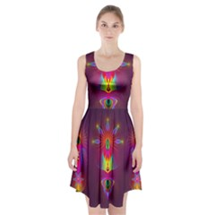 Abstract Bright Colorful Background Racerback Midi Dress