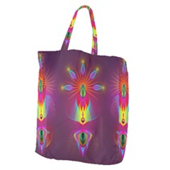 Abstract Bright Colorful Background Giant Grocery Zipper Tote