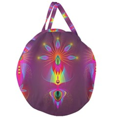 Abstract Bright Colorful Background Giant Round Zipper Tote