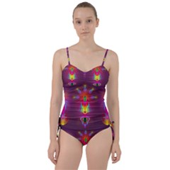 Abstract Bright Colorful Background Sweetheart Tankini Set by Nexatart