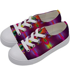 Abstract Bright Colorful Background Kids  Low Top Canvas Sneakers by Nexatart
