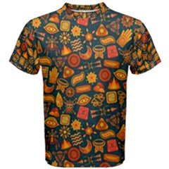 Pattern Background Ethnic Tribal Men s Cotton Tee