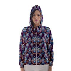 Seamless Pattern Pattern Hooded Wind Breaker (women)