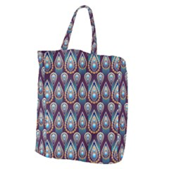 Seamless Pattern Pattern Giant Grocery Zipper Tote
