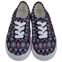 Seamless Pattern Pattern Kids  Classic Low Top Sneakers