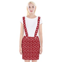Floral Dots Red Braces Suspender Skirt by snowwhitegirl