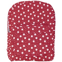 Floral Dots Red Full Print Backpack by snowwhitegirl