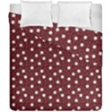 Floral Dots Maroon Duvet Cover Double Side (California King Size) View1