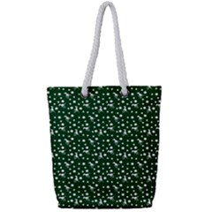 Dinosaurs Green Full Print Rope Handle Tote (small)