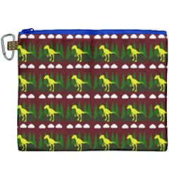 Dino In The Mountains Red Canvas Cosmetic Bag (xxxl) by snowwhitegirl