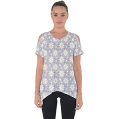 Daisy Dots Grey Cut Out Side Drop Tee by snowwhitegirl
