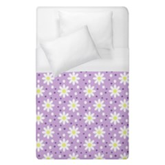 Daisy Dots Lilac Duvet Cover (single Size) by snowwhitegirl
