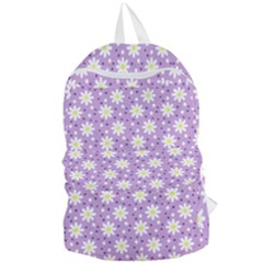 Daisy Dots Lilac Foldable Lightweight Backpack by snowwhitegirl
