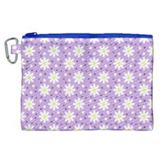Daisy Dots Lilac Canvas Cosmetic Bag (xl) by snowwhitegirl