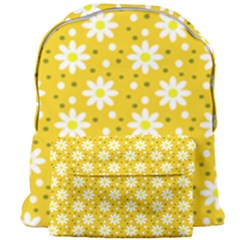 Daisy Dots Yellow Giant Full Print Backpack by snowwhitegirl