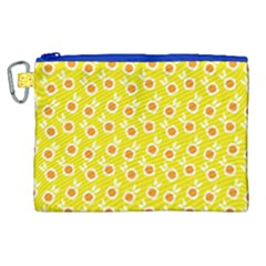 Square Flowers Yellow Canvas Cosmetic Bag (xl) by snowwhitegirl