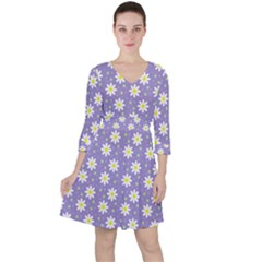 Daisy Dots Violet Ruffle Dress