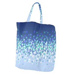 Blue Disintegrate Giant Grocery Zipper Tote by jumpercat