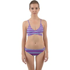 Color Line 4 Wrap Around Bikini Set