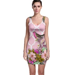Shabby Chic,floral,bird,pink,collage Bodycon Dress by 8fugoso
