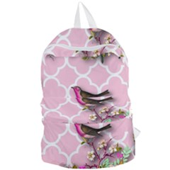 Shabby Chic,floral,bird,pink,collage Foldable Lightweight Backpack by 8fugoso
