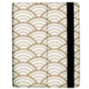 gold,white,art deco,vintage,shell pattern,asian pattern,elegant,chic,beautiful Samsung Galaxy Tab 7  P1000 Flip Case View2