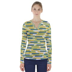 Fast Capsules 2 V Neck Long Sleeve Top by jumpercat