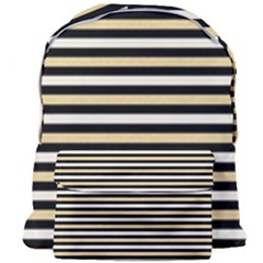 Black And Gold Stripes Giant Full Print Backpack