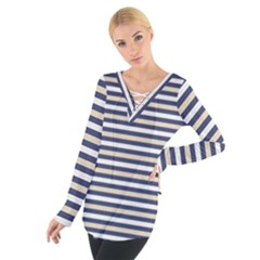 Royal Gold Classic Stripes Tie Up Tee