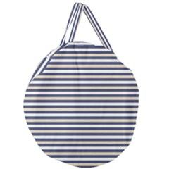 Royal Gold Classic Stripes Giant Round Zipper Tote by jumpercat
