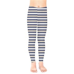 Royal Gold Classic Stripes Kids  Legging by jumpercat