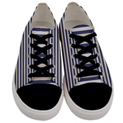 Royal Gold Classic Stripes Men s Low Top Canvas Sneakers