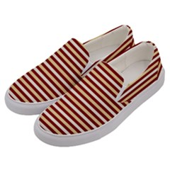 Gold And Wine Men s Canvas Slip Ons by jumpercat
