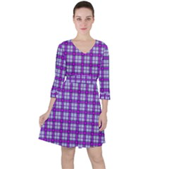 Purple Tartan Ruffle Dress