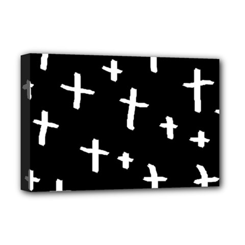White Cross Deluxe Canvas 18  X 12   by snowwhitegirl