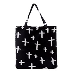 White Cross Grocery Tote Bag by snowwhitegirl