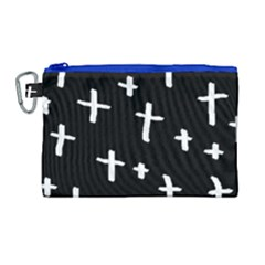 White Cross Canvas Cosmetic Bag (large) by snowwhitegirl