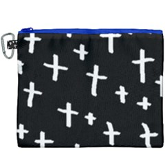White Cross Canvas Cosmetic Bag (xxxl) by snowwhitegirl
