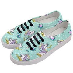 Magical Happy Unicorn And Stars Women s Classic Low Top Sneakers by allthingseveryday