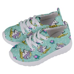 Magical Happy Unicorn And Stars Kids  Lightweight Sports Shoes by allthingseveryday